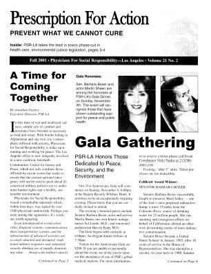 2001 Newsletters