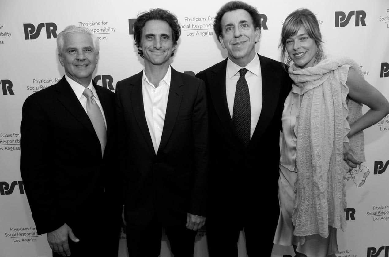 Joseph Cirincione (Founders Award), Lawrence Bender (Socially Responsible Media Award), Dr. and Mrs. Dean Ornish, M.D.