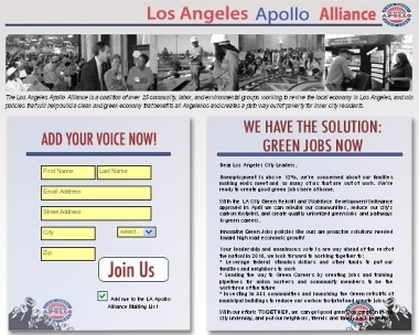 Sign the Apollo Alliance petition